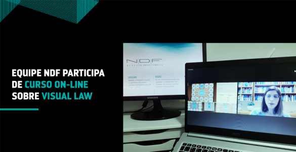 Equipe NDF participa de curso on-line sobre Visual Law